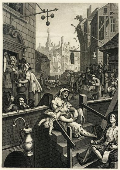 Hogarth, William. Gin Lane. Fine Art Print/Poster. Sizes: A4/A3/A2/A1 (00231)